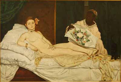 Olympia by Manet Famous French Painter