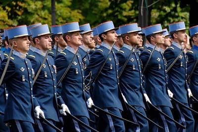 Bastille celebration military parade