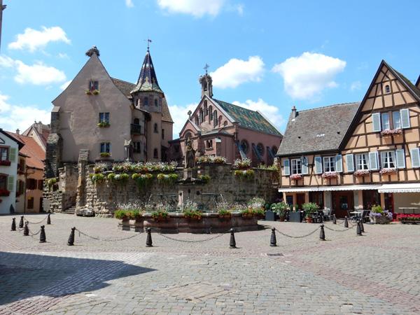 Eguisheim village square