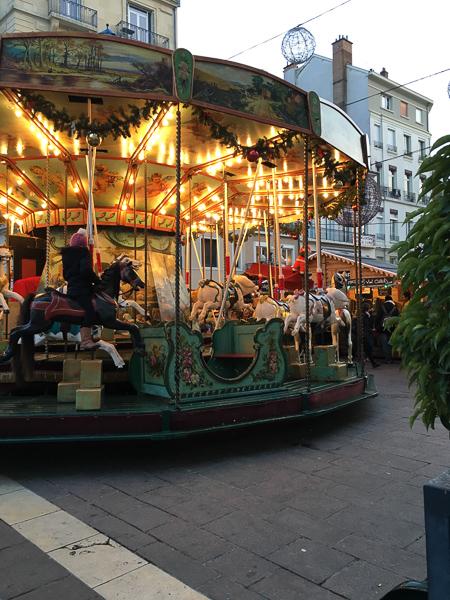 christmas in france carousel grenoble
