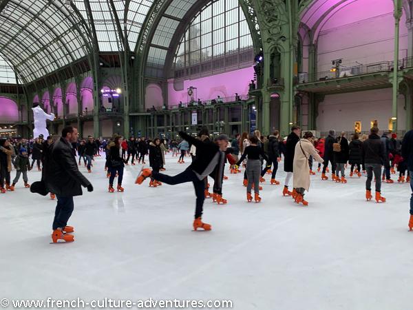 paris at christmas skating at le grand palais