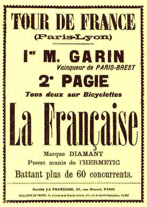 tour de france history poster 1903