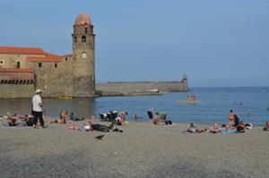 Collioure beach where we swam
