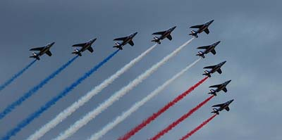 bastille day traditional military flyover