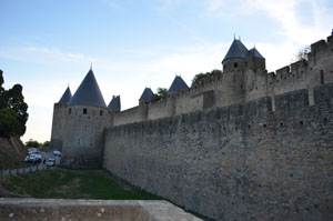 Carcassonne France outer walls
