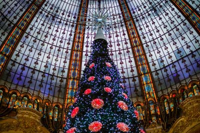christmas tree at gallery lafayette