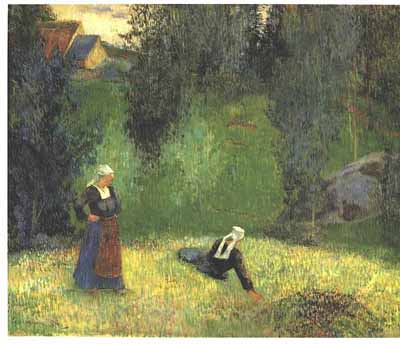 Spring at Lézaven [Brittany], or The First Flowers by Gaugin, 1888