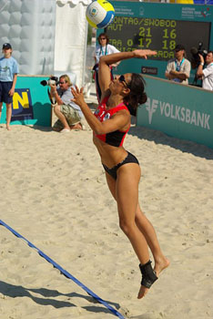 Franch beach women vollyball team member Celine Gamise-Fareau