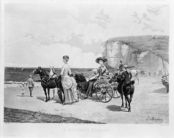 French beach women 1882, Manigaud print