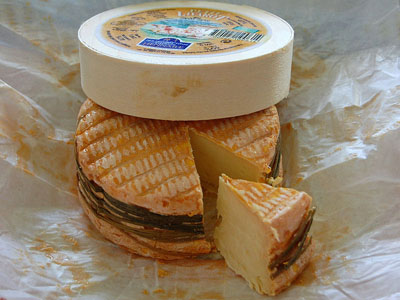 popular French food livarot cheese of Normandy