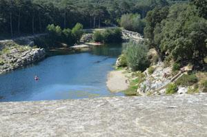 Gardon River below site du Pont du Gard