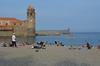 Collioure beach where we swam