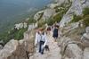 the climb at Peyrepertuse