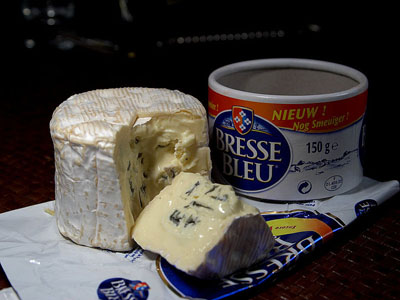 traditional French foods Bresse blue cheese