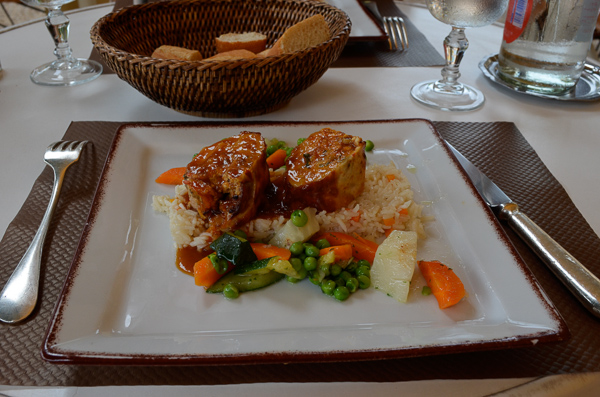 traditional French foods of southwest France. Turkey rolled and stuffed