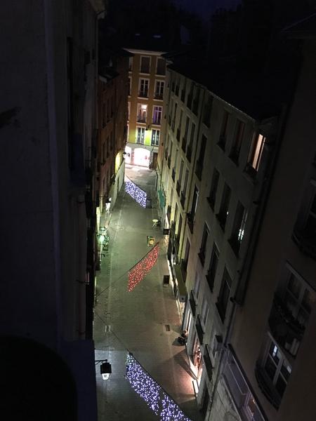 Christmas in France Grenoble street