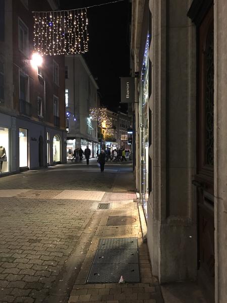 Christmas lights in Grenoble France