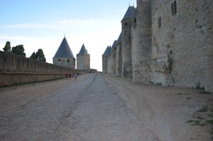 Carcassonne medieval fortress walls