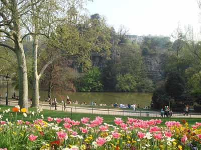 Easter in France Parc Buttes Chaumont in Paris