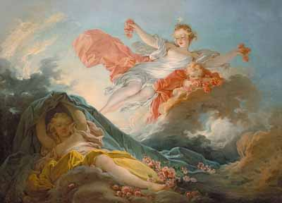 Famous French Painters Aurore by Fragonard