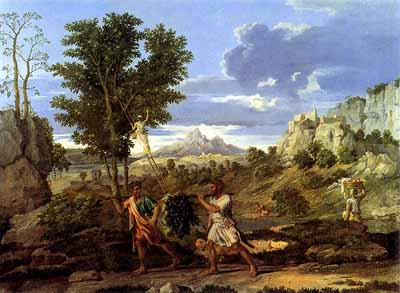 French Painters Poussin The Four Seasons: Autumn (The Spies with the Grapes of the Promised Land)