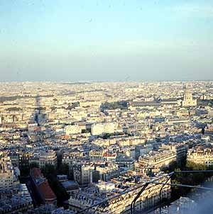 Eiffel Tower view 40 years ago!