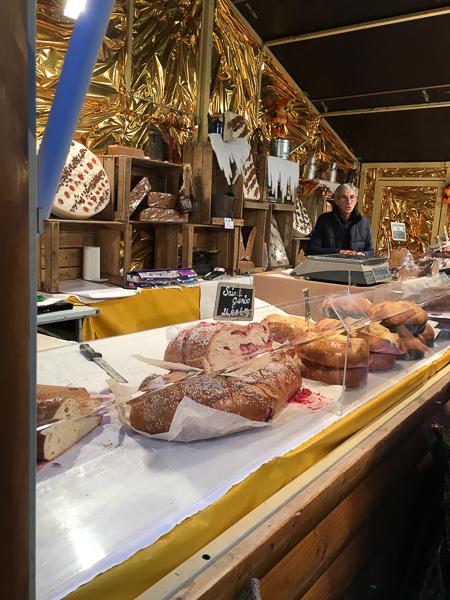 Christmas in france grenoble bread market