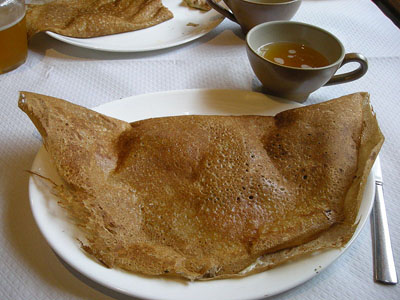popular French food of Brittany buckwheat crepe