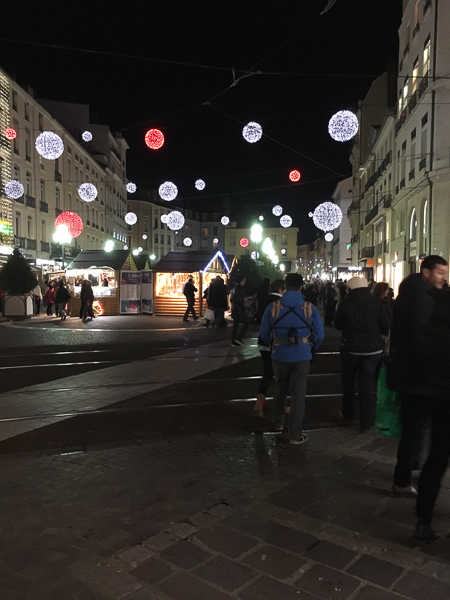 Christmas in Grenoble France Christmas Market and lights