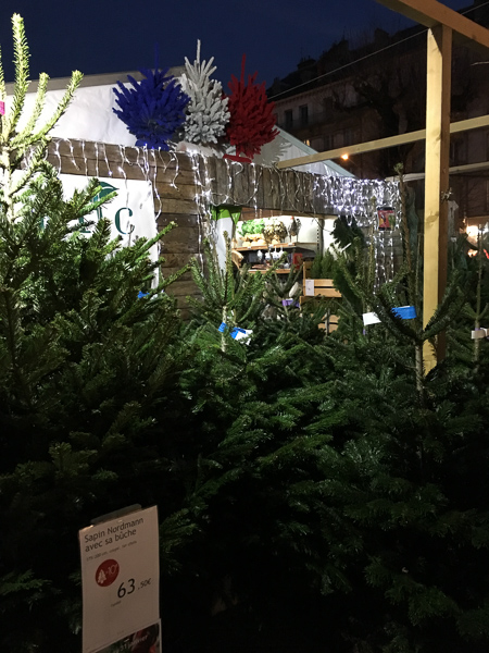 Grenoble France Christmas trees for sale